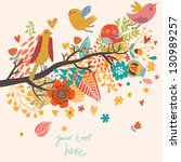 spring concept illustration.... | Shutterstock .eps vector #130989257