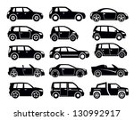 vector black auto icon set on... | Shutterstock .eps vector #130992917