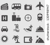 travel icons set.vector | Shutterstock .eps vector #130998947