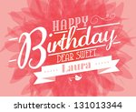 birthday template vector/illustration - stock vector