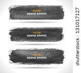 set of grunge banners.... | Shutterstock .eps vector #131017127