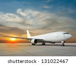commercial airplane with nice... | Shutterstock . vector #131022467
