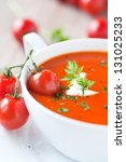 tomato soup in a bowl | Shutterstock . vector #131025233