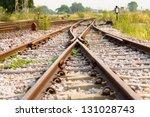 Railway And Crossing Rail Track