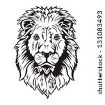 natural lion    's head front... | Shutterstock .eps vector #131083493