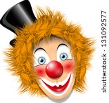 Illustration Redheaded Clown...