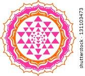 shri yantra   lotus flowers | Shutterstock .eps vector #131103473