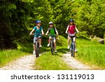active family biking | Shutterstock . vector #131119013