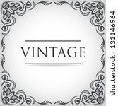 Vintage retro frame for design - stock vector