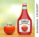 vector illustration of ketchup...   Shutterstock .eps vector #131161007