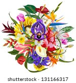Bouquet Of Many Beautiful And...