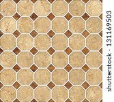 brown mosaic marble texture.... | Shutterstock . vector #131169503