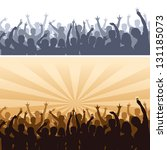 crowds silhouettes. each figure ... | Shutterstock .eps vector #131185073