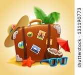 background,bag,baggage,beach,briefcase,case,coconut,color,colorful,design,detailed,elements,eps10,fun,glasses