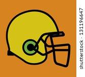 football helmet in yellow color ... | Shutterstock .eps vector #131196647