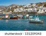 boats in the sea bay near the... | Shutterstock . vector #131209343