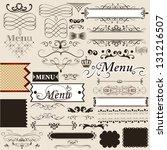 vector set of calligraphic... | Shutterstock .eps vector #131216507