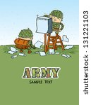 army character | Shutterstock .eps vector #131221103