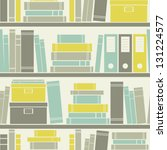 seamless pattern with books on... | Shutterstock .eps vector #131224577