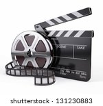 film and clapper board   video... | Shutterstock . vector #131230883