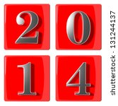 3d numbers new year 2014 | Shutterstock . vector #131244137