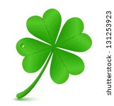 Four Leaf Clover. Vector...