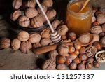 image of natural food on table | Shutterstock . vector #131257337