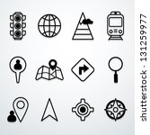 map and location icons | Shutterstock .eps vector #131259977