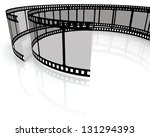 movie clapper board on white... | Shutterstock . vector #131294393