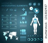 medical infographic elements | Shutterstock .eps vector #131302937