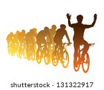 group of cyclist in the bicycle ... | Shutterstock .eps vector #131322917
