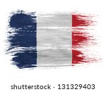 france. french flag  on white... | Shutterstock . vector #131329403