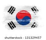the south korea flag  on white... | Shutterstock . vector #131329457