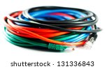 five color lan cables isolated... | Shutterstock . vector #131336843