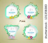 vector flower frame | Shutterstock .eps vector #131358383