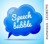 vector blue speech bubble... | Shutterstock .eps vector #131383793