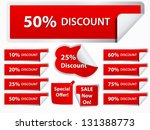 discount vector stickers | Shutterstock .eps vector #131388773