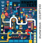 factory  engineering  vectory... | Shutterstock .eps vector #131397143