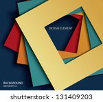 vector abstract paper square...