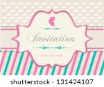 invitation  vintage frame ...   Shutterstock .eps vector #131424107