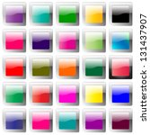 glossy colorful website buttons ... | Shutterstock .eps vector #131437907