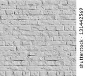 Old White Brick Wall. Seamless Tileable Texture. - stock photo