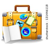 Holidays Suitcase Luggage - stock photo