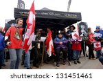OTTAWA, CANADA - MAR 13:  Fans honor the recently deceased Stompin' Tom Connors, the singer/songwriter and Canadian Icon.  It was one of many tributes held across the nation Mar 13, 2013 in Ottawa. - stock photo