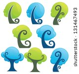 blue and green  vector trees... | Shutterstock .eps vector #131467493