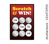 a winning scratch and win game... | Shutterstock .eps vector #131472953