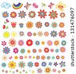 set of summer flowers | Shutterstock .eps vector #131476097