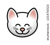 a smiling cat face. | Shutterstock .eps vector #131476523