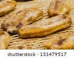 dried bananas in bamboo basket | Shutterstock . vector #131479517