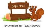 Illustration Of A Squirrel...